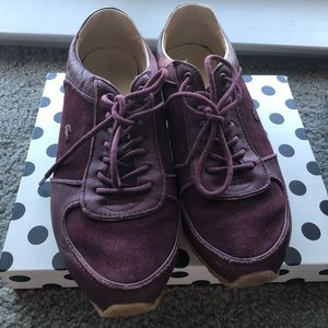 Lacoste Burgundy Sneakers Size 38